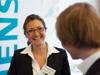 Bewerbungstipps aus erster Hand: Klaudija Trkaj berichtete auf der Bühne und im persönlichen Gespräch über ihren Einstieg bei der Siemens AG nach dem Studium