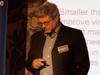 Dr. Michael Klein warf einen Blick in die Zukunft, in der Web, Mensch und Industrie die nächste Entwicklungsstufe erreichen.
