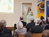 Sylvia Wimmershoff, Leiterin des Berufskollegs Bergisch Land, sprach über bereits eingetretene und bevorstehende Folgen des demografischen Wandels für das Bergische Land.