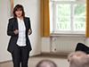 Welchen Herausforderungen müssen sich Unternehmen in Zeiten einer global schrumpfenden und alternden Gesellschaft stellen? Welche Lösungsstategien sind sinnvoll? Prof. Dr. Beate Gleitsmann, Professorin an der RFH Köln und Expertin in den Bereichen Marktforschung und Personalmarketing, lieferte in ihrem Vortrag Antworten auf diese Fragen.