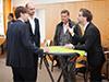 Die Pausen zwischen den Vorträgen boten gute Gelegenheit zum Kennenlernen, Diskutieren und Netzwerken.