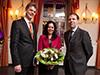 Ayşe Sezen, Vizekonsulin der Türkei, zusammen mit Prof. Dr. Karl-Heinz Brockmann, RFH-Vizepräsident und Fachbereichsleiter Ingenieurwesen (links), und RFH-Geschäftsführer Prof. Dr. Martin Wortmann (rechts)