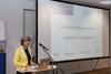Ute Berg, Beigeordnete für Wirtschaft und Liegenschaften der Stadt Köln, richtete als Vertreterin der Stadt das Wort an die Teilnehmer.