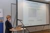 """Lena Weigelin, Clustermanagement IKT.NRW: """"CPS.HUB NRW – Angebote und Kooperationsmöglichkeiten""""."""