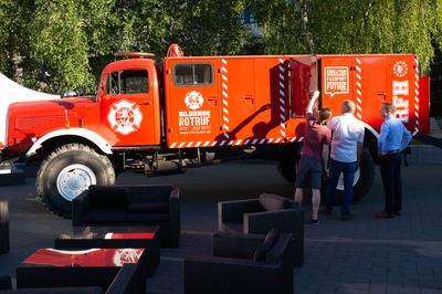 Der RFH-MINT-Truck 'Freddi'  ist ein altes Feuerwehrauto und wurde 2017 gekauft. Er hat dasselbe 'Geburtsjahr' wie die RFH – 1958. Freddi soll in Zukunft zum Transport von innovativen und technischen Projekten dienen. Dafür waren einige Umbauten nötig.