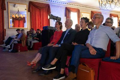 v.l.n.r.: Mediendesign-Dozenten: Prof. Marie-Susann Kühr, Prof. Dr. René Spitz, Prof. Katja Butt, Prof. Martin Rendel