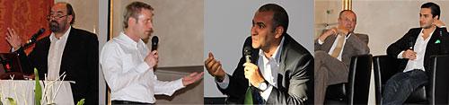 v.l.n.r.: Michael Thiel, Dr. Rainer Deutschmann, Ibrahim Evsan, Franz Sommerfeld, Ehssan Dariani